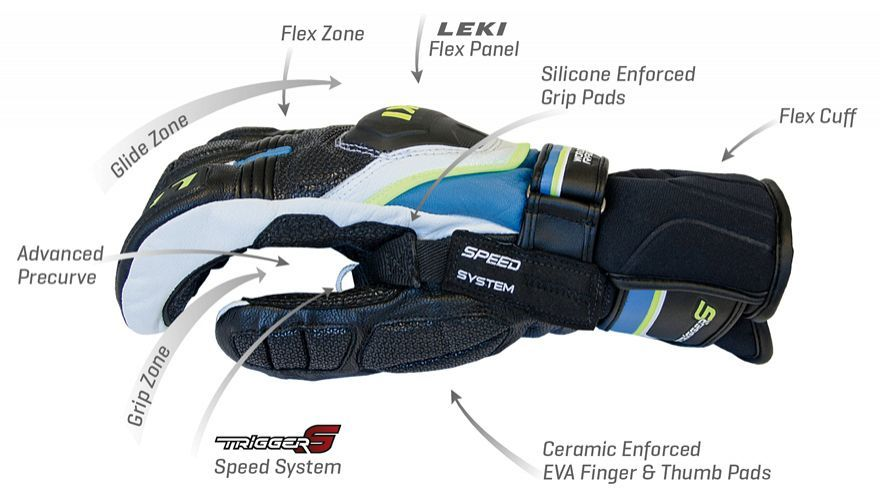 Юніорські рукавички для слалому WORLDCUP RACE COACH FLEX S JUNIOR RED