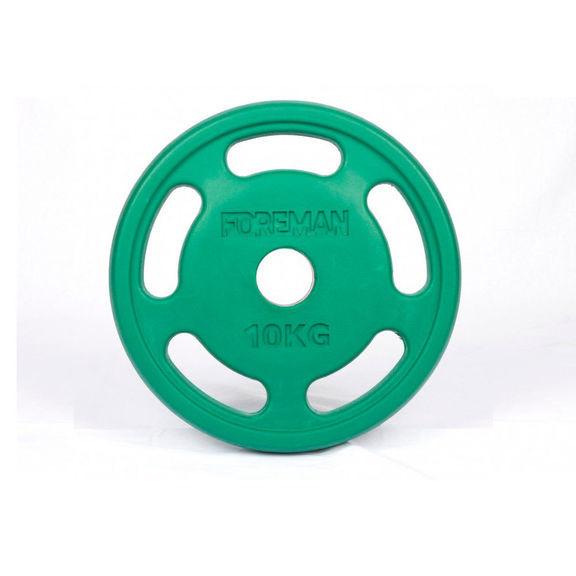 Диск E-Z олимпийский обрезиненный FOREMAN ROEZH, 10 кг