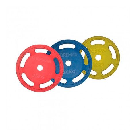 Диск E-Z олимпийский обрезиненный FOREMAN ROEZH, 15 кг