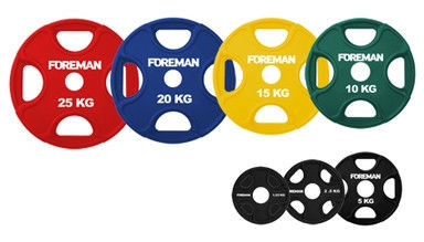 Диск олимпийский обрезиненный FOREMAN PRR 15 кг