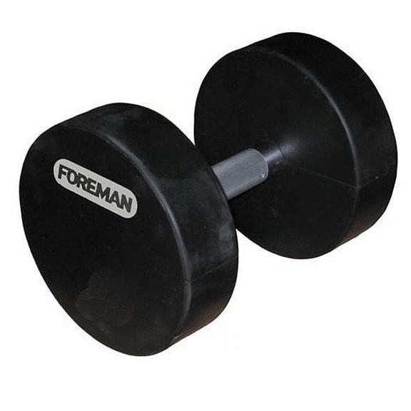 Гантели фиксир. обрезиненные FOREMAN, 20 кг