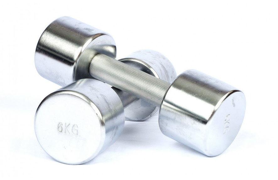 Хромированные KG гантели HCD-6KG (пара)