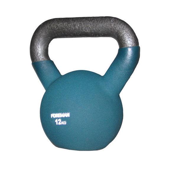 Гиря двухцветная FOREMAN, 12 кг (зеленый)
