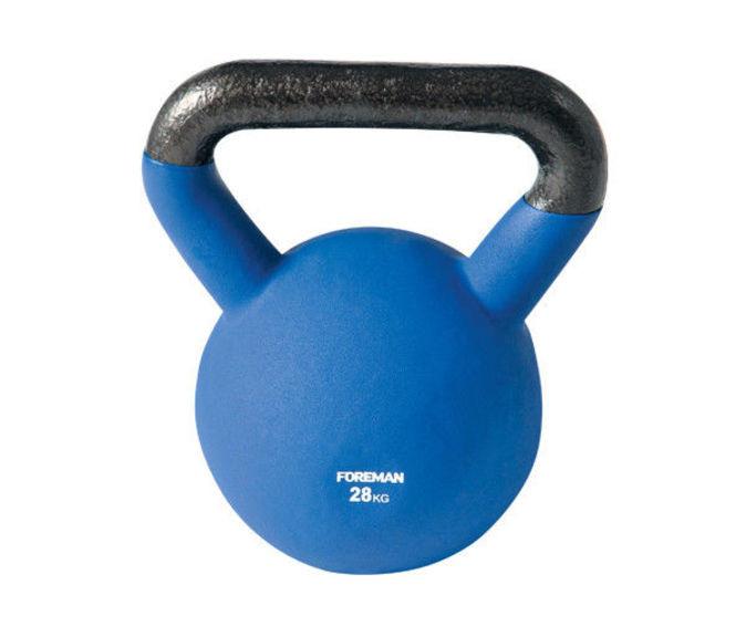 Гиря двухцветная FOREMAN, 28 кг (синий)