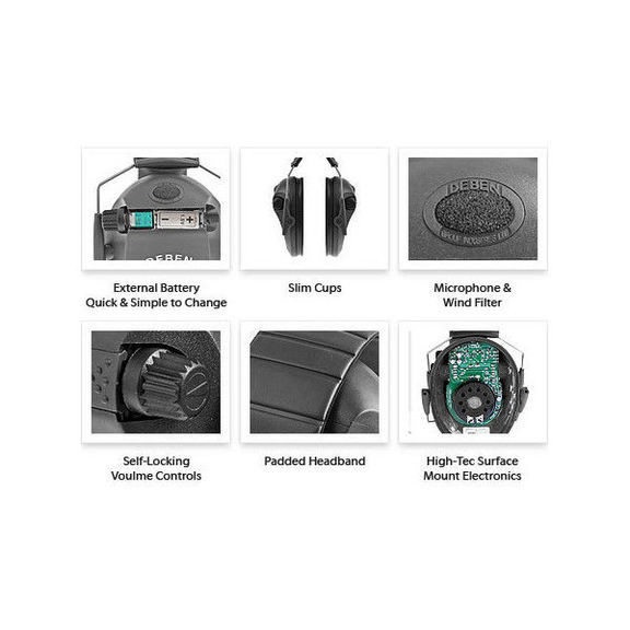 Наушники шумоподавляющие Deben Slim Electronic DS4121