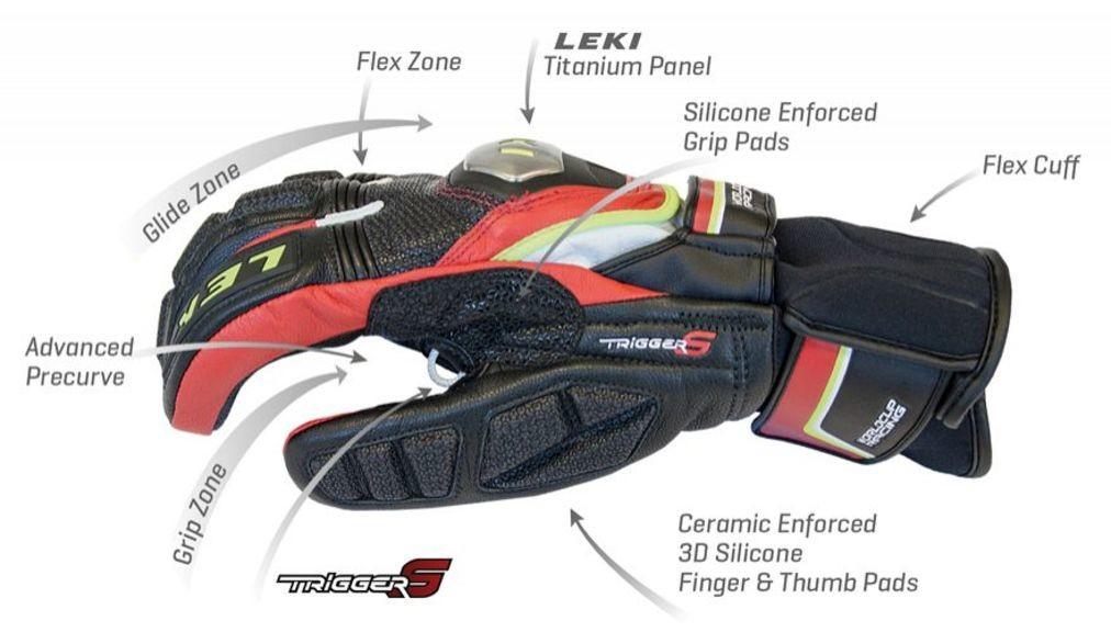 Перчатки для слалома Leki Worldcup Race TI S Speed System