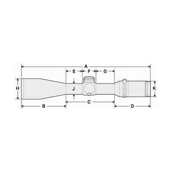 Прицел оптический Hakko Superb 2.5-10X42 (Mil Dot IR R/G)