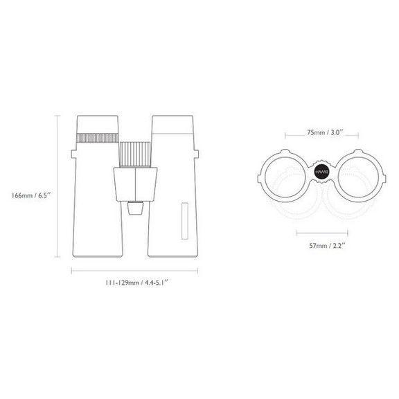 Бинокль Hawke Sapphire Open Hinge ED 10x43 (Black)