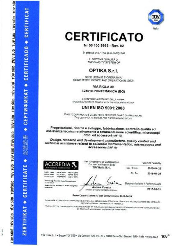Микроскоп Optika B-353LD2 40x-500x Trino Infinity Fluorescence