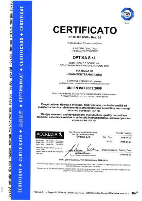 Микроскоп Optika S-20-2L 20x Bino Stereo