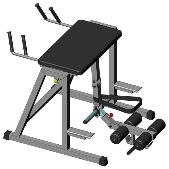 Гиперэкстензия обратная InterAtletik Gym ST222