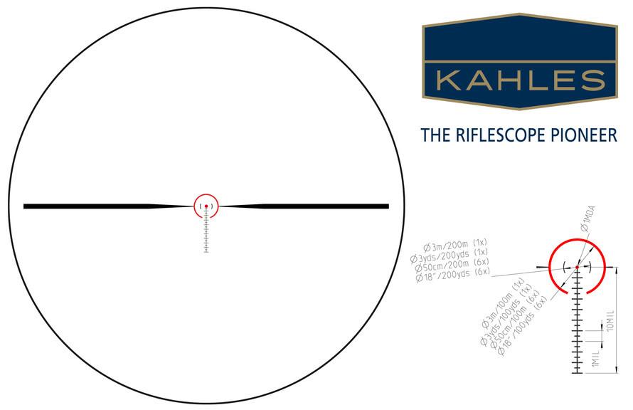 Прицел оптический Kahles K 16i 1-6x24 Abs. SM1