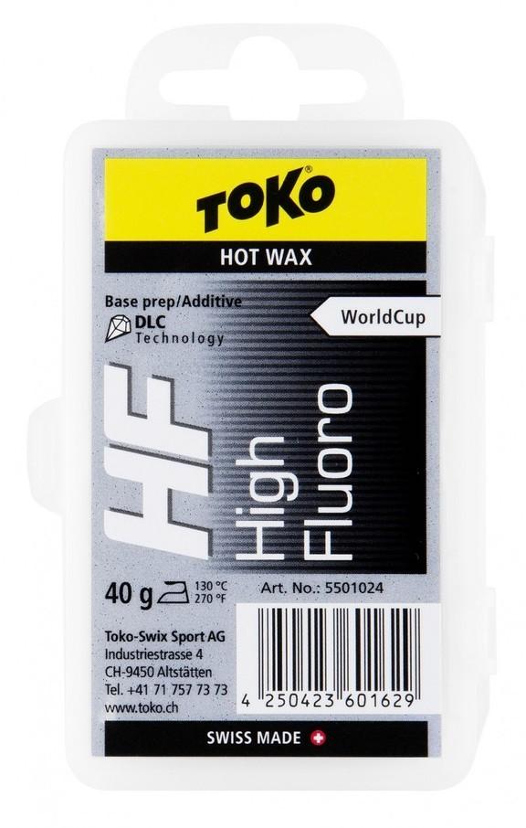 Воск для агрессивного снега Toko HF Hot Wax black 40g