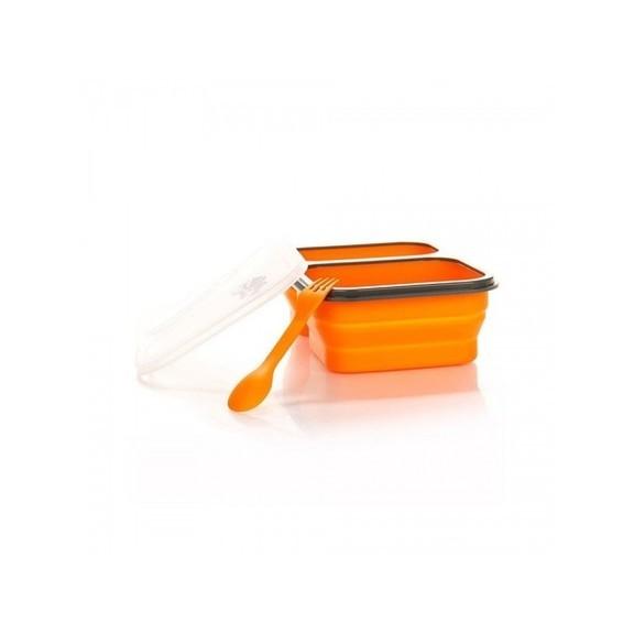 Контейнер силиконовый на 2 отсека с ловилкой Tramp (900ml)