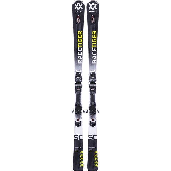 Комплект: лыжи Volkl Racetiger SC Black 17/18 + крепление vMotion 11 GW